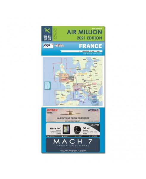 Carte 2021 1/1 000 000e V.F.R. France - Jour Air million