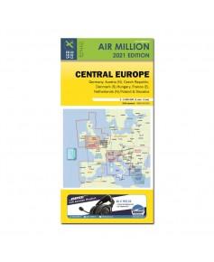 Carte 2021 1/1 000 000e V.F.R. Europe Centrale  Air Million