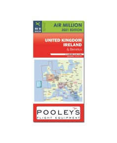 Carte 2021 1/1 000 000e V.F.R. Royaume-Uni /  Irlande  Air million