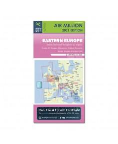 Carte 2021 1/1 000 000e V.F.R. Europe de l'Est  Air Million