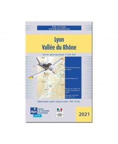 Carte Lyon Vallée du Rhône - Mars 2021