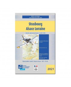 Carte Strasbourg Alsace-Lorraine - Mars 2021