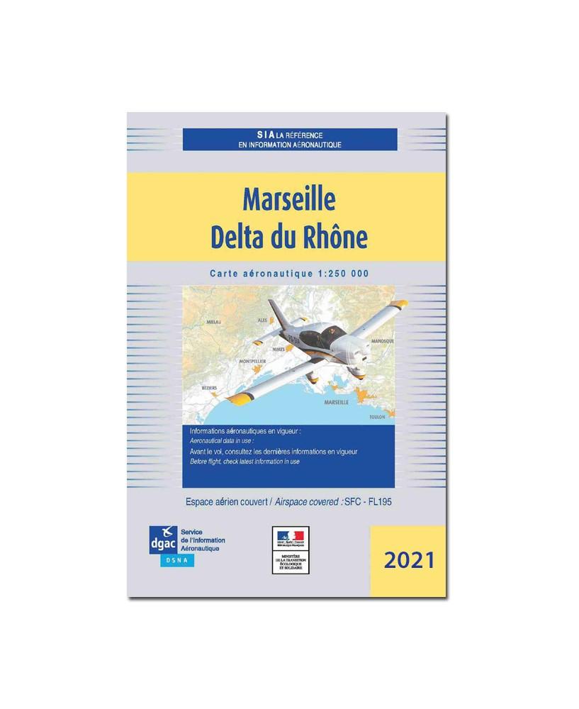 Carte Marseille Delta du Rhône - Mars 2021