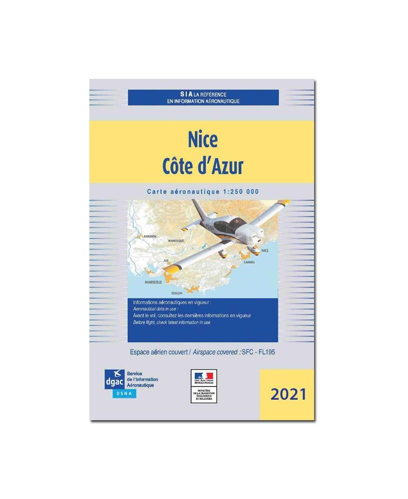 Carte Nice Côte d'Azur - S.I.A. 2021