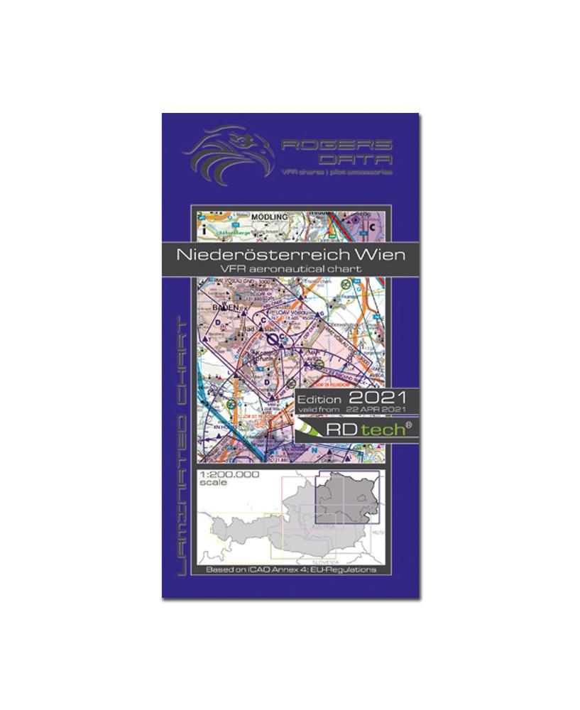 Carte 2021 1/500 000e V.F.R. Autriche Rogers Data