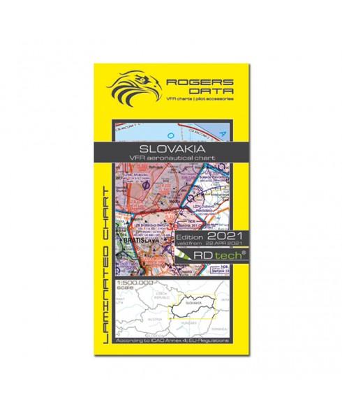 Carte 2021 1/500 000e V.F.R. Slovaquie Rogers Data