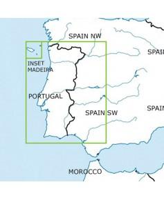 Carte 2021 1/500 000e V.F.R. Portugal Rogers Data