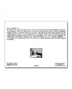 Carte de correspondance - illustration de J.-L. BEGHIN : Blériot XI