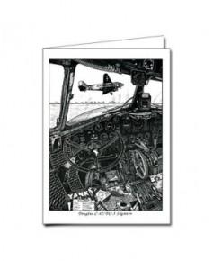 Carte de correspondance - illustration de J.-L. BEGHIN : Douglas C47 / DC3