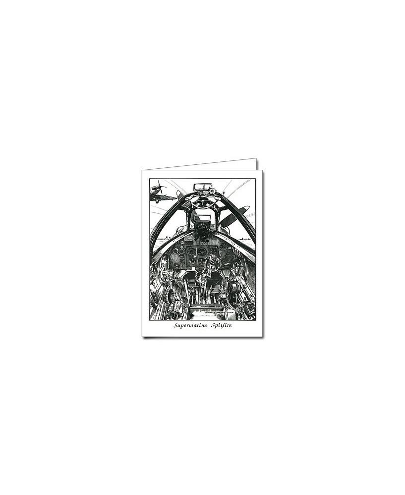 Carte de correspondance - illustration de J.-L. BEGHIN : Supermarine Spitfire