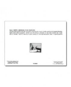 Carte de correspondance - illustration de J.-L. BEGHIN : North American P51D Mustang