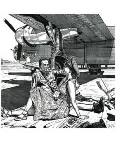 Carte de correspondance - illustration de J.-L. BEGHIN : B24 Liberator Withcraft II