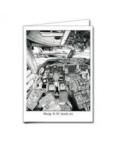 Carte de correspondance - illustration de J.-L. BEGHIN : Boeing B747 Jumbo Jet