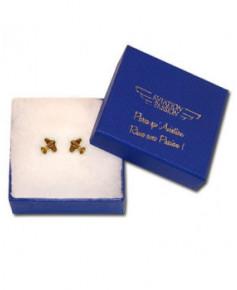 Boucles d'oreilles mini avion plaqué or