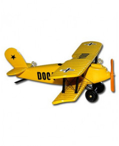 Petit avion bois jaune