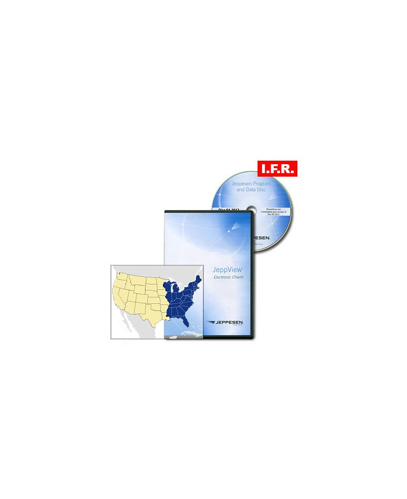 Trip kit Jeppview I.F.R. Est des Etats-Unis (mise à jour unique)