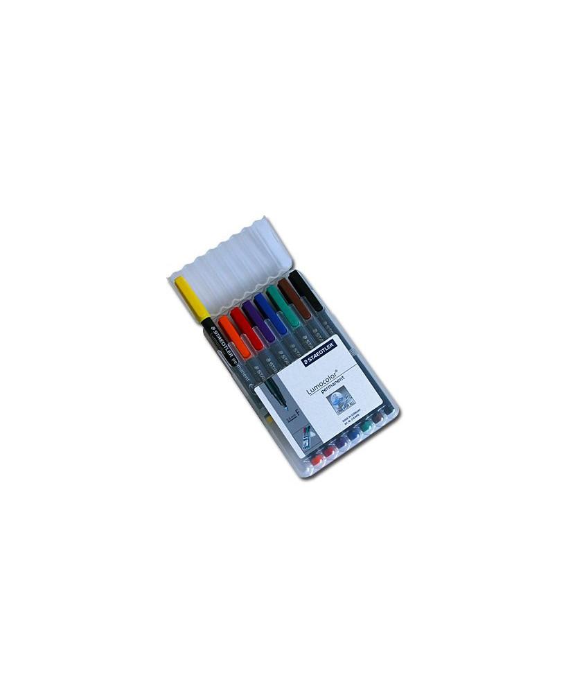 Etui 8 couleurs - Feutres permanents pointe fine