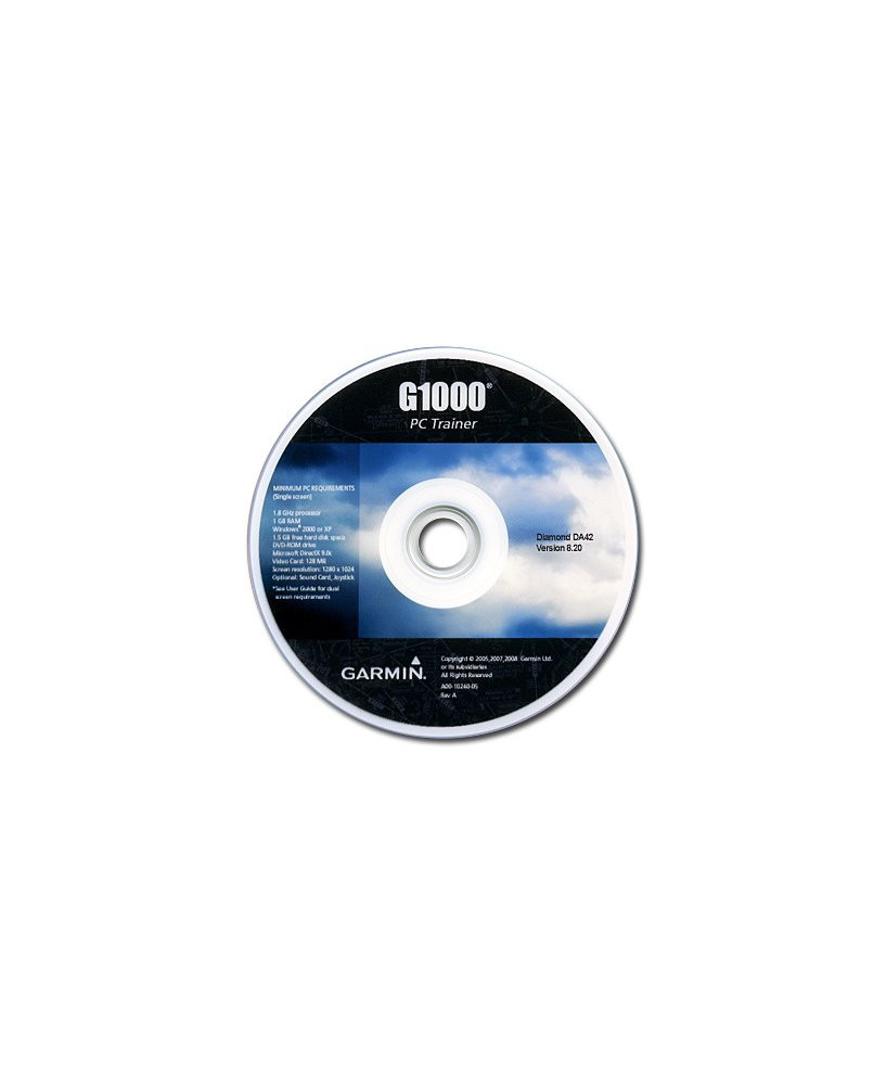 C.D.-ROM Garmin G1000 PC Trainer pour DA42