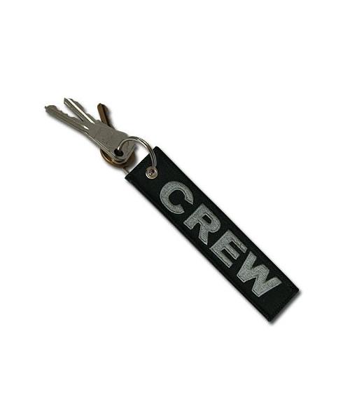 Porte-clés Crew / noir et gris - Aviation Passion