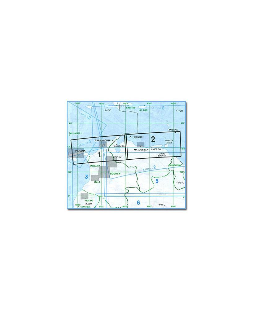 Carte Jeppesen Amerique du Sud En Route basse altitude SA(LO)1/2