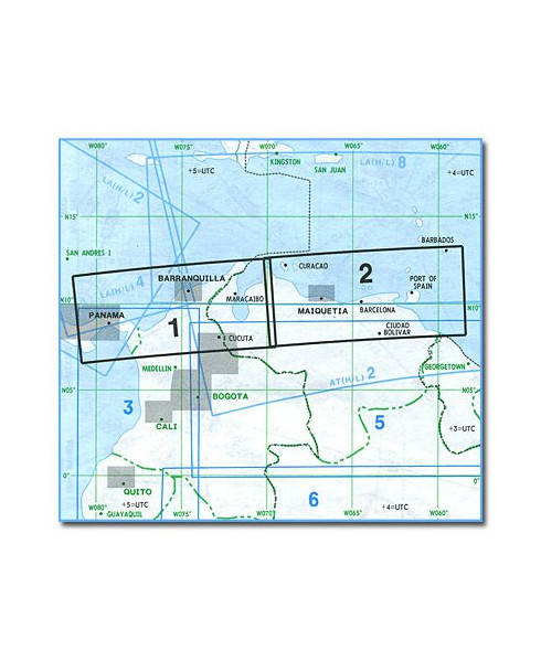 Carte Route Amerique.Carte Jeppesen Amerique Du Sud En Route Basse Altitude Sa Lo 1 2