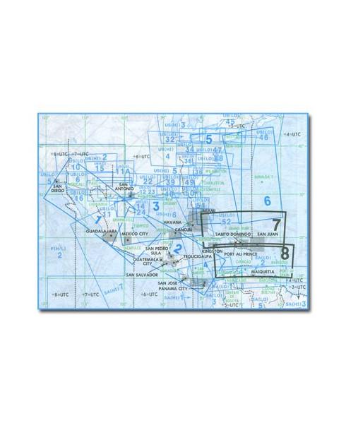 Carte Jeppesen Amérique Latine En Route haute et basse altitude LA(H/L)7/8
