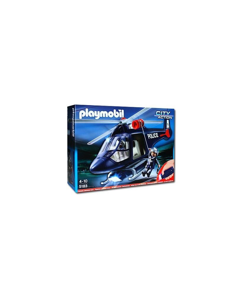 L'hélicoptère de police Playmobil® avec projecteur