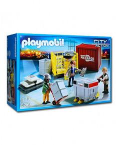 Les manutentionnaires aéroportuaires et leurs marchandises Playmobil®