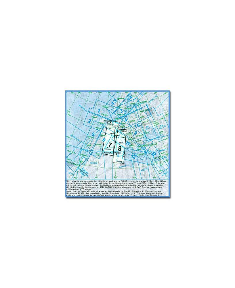 Carte Jeppesen Europe En Route haute altitude E(HI) 7/8