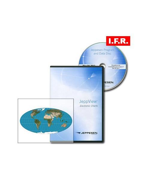 Logiciel et abonnement annuel Jeppview I.F.R. pour le monde entier (Worldwide)