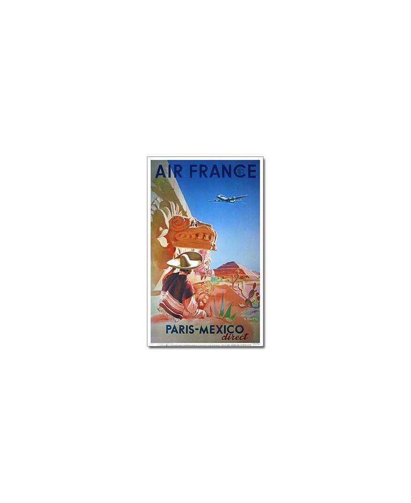 Affiche Air France, Paris - Mexico