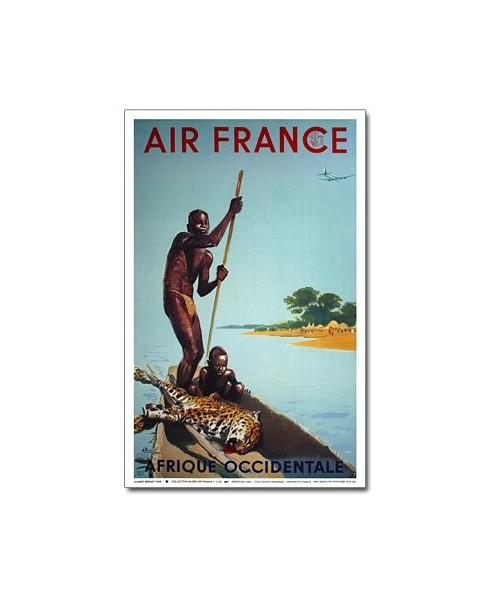 Affiche Air France, Afrique Occidentale