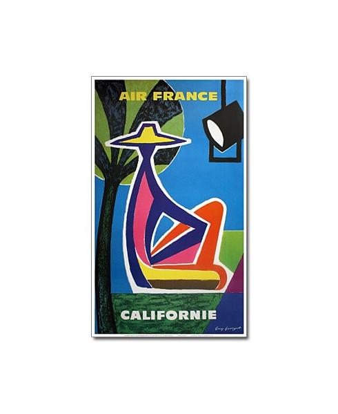 Affiche Air France, Californie