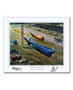 Poster Thompson Trophy 1936, Michel DETROYAT et le Caudron C460