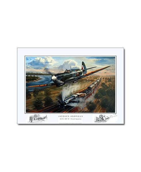 Poster Jacques ANDRIEUX, Spitfire MK VB - Punjab Squadron