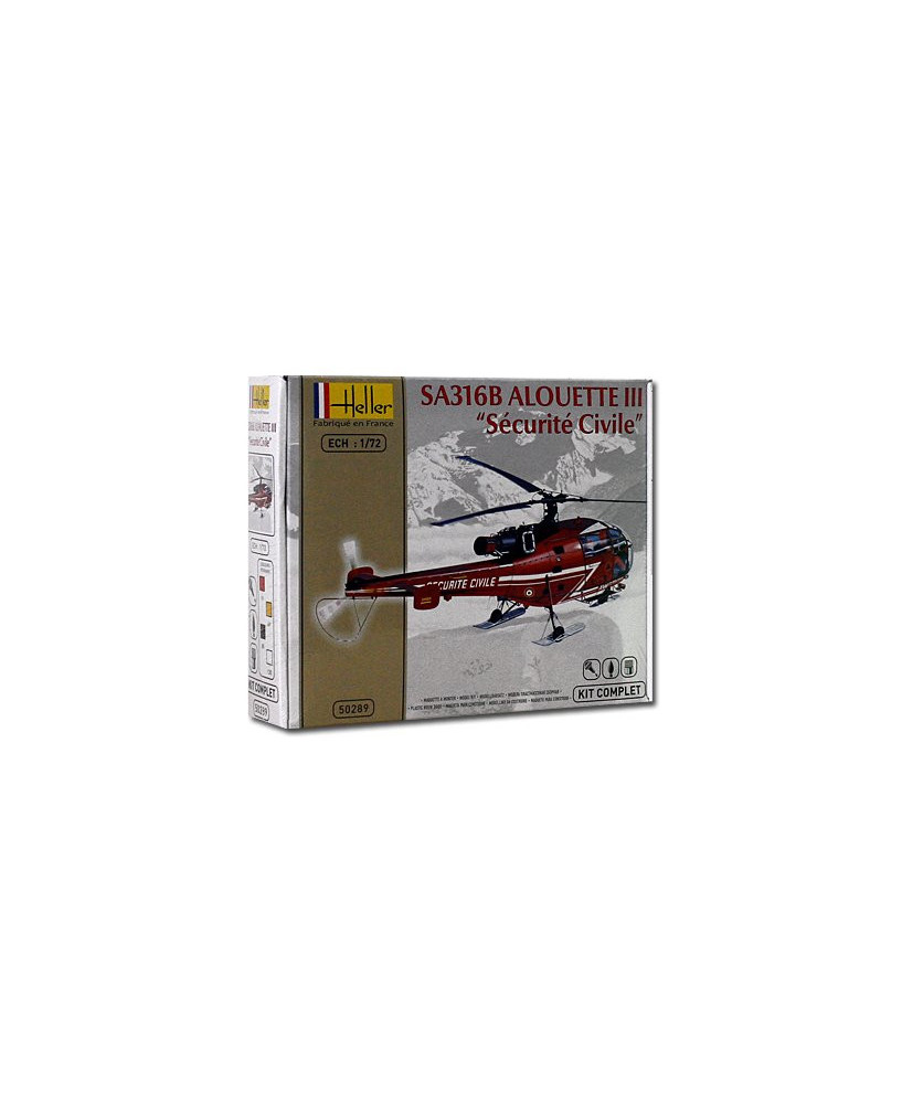 Coffret maquette à monter Alouette 316B III Sécurité civile - 1/72e