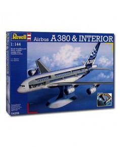 Maquette à monter A380 avec intérieur visible - 1/144e