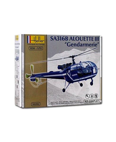 Coffret maquette à monter Alouette 316B III Gendarmerie - 1/72e