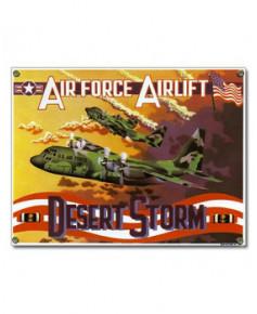 Plaque émaillée C130 Hercules