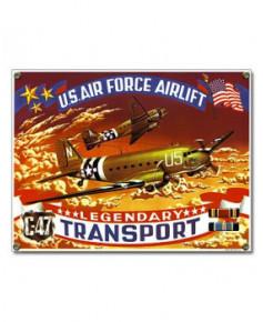 Plaque émaillée C47 Transport