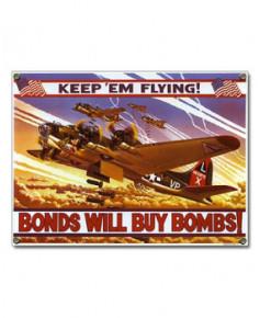 Plaque émaillée B17 Bomber