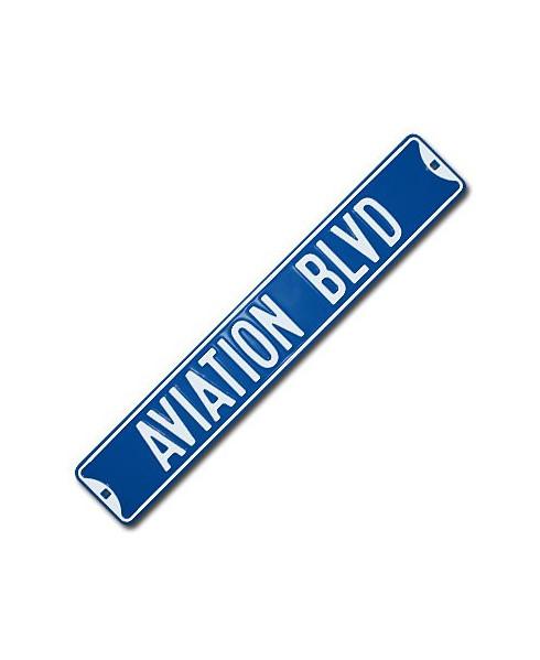 Plaque décorative en relief Aviation Blvd