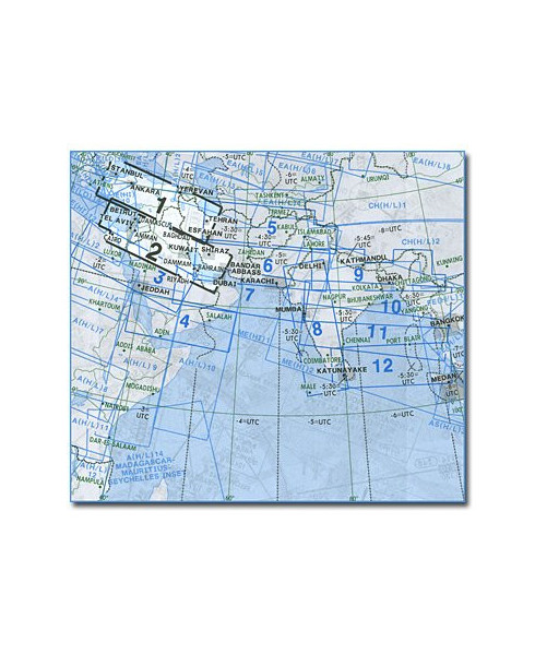 Carte Jeppesen Moyen-Orient En Route haute et basse altitude ME(H/L) 1/2