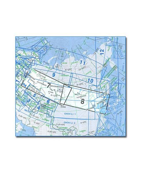 Carte Jeppesen Eurasie En Route haute et basse altitude EA(H/L) 7/8