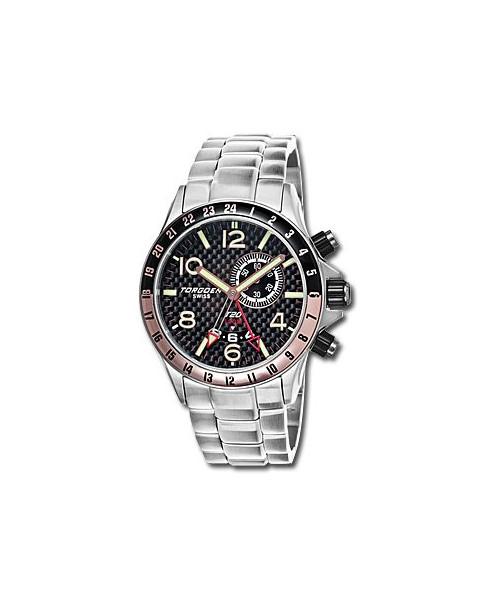 Montre Torgoen T20 204 - boîtier acier, cadran noir et bracelet acier