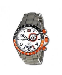 Montre Torgoen T20 201 - boîtier acier, cadran blanc et bracelet acier