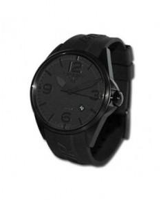 Montre Torgoen T10 302 - boîtier noir, cadran noir et bracelet noir en caoutchouc