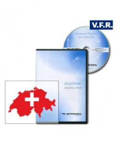 Logiciel et abonnement annuel pour Jeppview V.F.R. Suisse (CHE)
