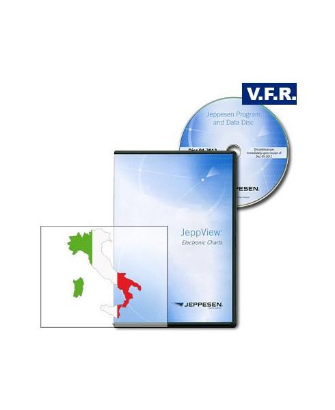 Logiciel et abonnement annuel pour Jeppview V.F.R. Italie et Malte (ITA)
