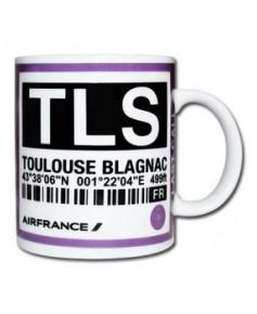 Mug bag-tag T.L.S. - Air France Toulouse